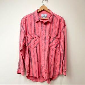 Vintage Bugle Boy 90s Striped Button Shirt